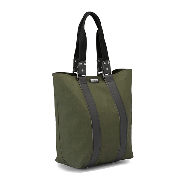 KAZMOK Tote Bag army green